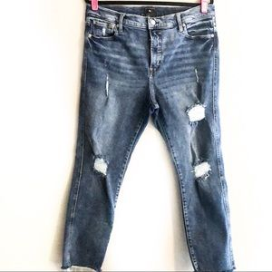 GAP Slim Straight Distressed Jeans